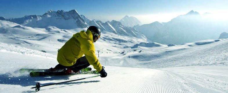 Катание на лыжах. Зимние виды спорта